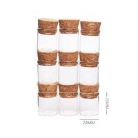 mini éprouvettes en liège achat en gros de-5ml mini flacons en verre jarres emballage tube à essai avec bouchon de liège bouteilles en verre transparent clair 100pcs / lot