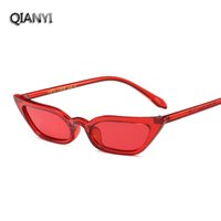 Wholesale Small Mirrored Boxes - Fashion cool sunglasses chic new sunglasses Europe and the United States trend cats eye cool personality small box glasses glasses