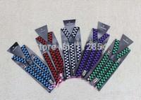 elastische verstellbare hosenträger großhandel-Freies Shipping + Wholesale justierbare Klipp-auf Hosen Y-zurück Plaid Suspender Braces Erwachsenen elastische Gurte, 200pcs / lot