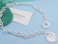 topu yonca toptan satış-Jiangyu Yüksek Kalite Ünlü Tasarım Mektup Gümüş Top Yonca Kolye Gümüş Moda Metal Kalp şeklinde Kolye Kolye Takı Ile