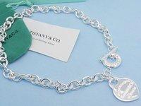 topu yonca toptan satış-Kalite Ünlü tasarım Gümüş Top Yonca kolye Gümüş Metal Kalp şeklinde Kutu Ile Kolye kolye Takı