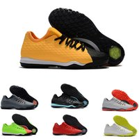 Wholesale gold soles online - 2018 HYPERVENOM III Md sole mens football shoes Black orange soccer shoes HypervenomX Finale II soccer cleats TF