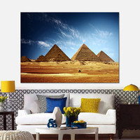 Wholesale Egypt Canvas - Canvas HD Prints Pictures Framework For Living Room Home Decor 1 Piece Pcs Mesmerizing Egypt Paintings Pyramid Posters Wall Art
