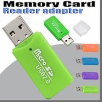 Wholesale HOT Epacket High Speed USB Micro SD card T Flash TF M2 Memory Card Reader adapter gb gb gb gb gb gb TF Card