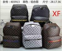 lüks aaaa toptan satış-2019 aaaa + lüks marka erkek omuz pu deri moda ünlü tasarımcı omuz çantası sırt çantası laptop çantası