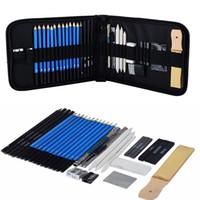 ingrosso matite di carbone d'arte-Set da disegno e schizzo Set da disegno Set grafite Charcoal Matite Sketchbook Art Disegni per il disegno Set per artisti 33 pezzi / borsa