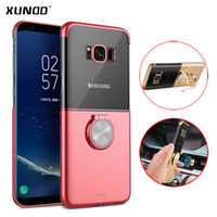 Wholesale Electroplated Rings - For samsung galaxy s9 s9 plus case Xundd Luxury cute clear case for galaxy s8 s8+ case capa with electroplating ring holder New