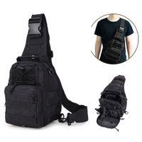 ingrosso pacchetti da escursione sulle spalle-Tactical single Shoulder pack Multi-uso impermeabile petto croce imbracatura zaino per Outdoor Hiking Camping climbing