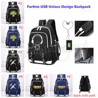 Wholesale women 3pcs casual - 6colors Fortnite Battle Royale Shoulder Travel Student School Backpack Cartoon USB Charge Laptop Computer Backpack For Teenager 3pcs MMA224