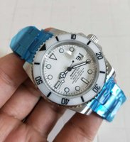 mat en céramique achat en gros de-Dernière version Mens Automatique 2813 mouvement Saphir Blanc En Céramique Lunette Full Mat Finition En Acier Lumineux 116610 Haute qualité Montres-bracelets
