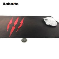 красная коврик для мыши оптовых-Babaite Red Logo for The Witcher 3 Wild Hunt Anti-slip Gaming Fashion Rectangular Mouse Pad Four Sizes to Choose