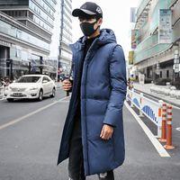 ingrosso inverno famosi uomini di marca di abbigliamento-6 Colori New Style Mens Parka lungo Cappotto Hombre Oversized 5XL Giacca invernale Uomo Famoso Marchio Mens Abbigliamento Caldo Jaqueta Masculina