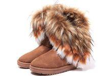 botas de nieve otoño invierno moda al por mayor-Caliente de la moda de piel de zorro, Invierno, Otoño Cuñas de la nieve de las mujeres patea los zapatos GenuineI Mitation señora Short Boots largo ocasional de nieve Tamaño de los zapatos 36-40