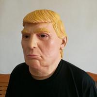 máscara de látex para homens venda por atacado-Presidente dos EUA Mr Donald Trump Máscara de Látex Máscara de Halloween Máscara de Halloween Máscara de Sobrancelhas Rosto Cheio KKA1141