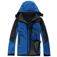 Wholesale Military Outdoor Clothing - Black White Men Winter SoftShell Jacket Outdoor Waterproof Windproof Military Clothes Long Sleeve Men Winter Coats Size S-2XL