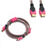 Wholesale 4k laptops - HDMI Cable HDMI To HDMI Cable m K D For TV PS3 Projector Computer Cable PS Roku PC Computer Projector Laptop