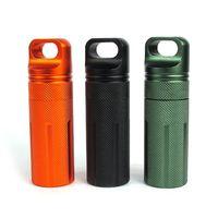 flache aufbewahrungsboxen großhandel-Aluminiumlegierung Volle Dichtung Abdichtung Topf Outdoor Survival EDC Ausrüstung 3 Farben Flache Aufbewahrungsbox 11se X
