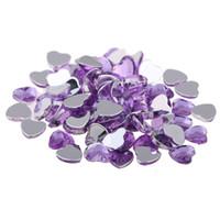 strass plat coeur achat en gros de-16mm 500pcs en forme de coeur couleurs normales Big Gems brillant facettes plates acrylique Flatback strass DIY Nail Art autocollants