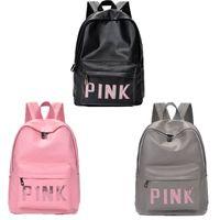 Wholesale wholesale business bags - Pink Sequins Backpack Pink Letter PU Backpacks Waterproof Travel Bags Teenager School Bags 3 Colors New 3007013