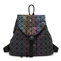 Wholesale female casual backpack for sale - Group buy New Women BaoBao Luminous Backpacks Female Fashion Girl Daily Backpack Geometry Package Sequins Folding Bags Bao Bao School Bags