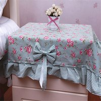 Wholesale Korean version of the creative tablecloth square towel bedside table dust cover multi purpose towel universal cover towel