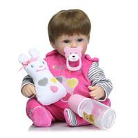Wholesale touch dolls toys - New 16inch 42cm silicone reborn dolls lifelike newborn babies toys soft touch bebe toys bonecas reborn de silicona
