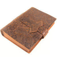 Wholesale handmade leather journals for sale - Group buy Retro Leather A5 Handmade Notebook Blank Inside Page Notepad Diary Agenda Planner Journal Notepad School Office Gift Supplies Sheets