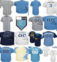 Wholesale tampa baseball - 20th Anniversary Patch Any Name Any Number 2018 Tampa Bay Men Women Youth Custom Home Away Cool Flex Baseball Jerseys Trainng Mother Father