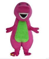 erwachsene dinosaurier-abendkleid großhandel-2018 hohe Qualität Barney Dinosaurier Maskottchen Kostüme Halloween Cartoon Erwachsene Größe Kostüm