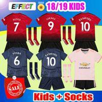 Wholesale uniform sets for sale - 2018 Alexis Manchester POGBA Kids Soccer Jersey Full Set LUKAKU RASHFORD MATA Football Kits United Youth Boy Chird Shirt uniform