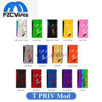 Wholesale Hide Led - Authentic SMOK T-Priv 220W Box Mod E Cig 220Watt Vape Mod with Hidden Fire Key Top LED Display 100% Original SMOKTECH