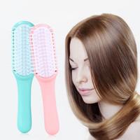 extensões de escova rosa venda por atacado-Pente de Extensão de cabelo Pincéis de Loop para Extensões de Cabelo Humano Perucas Loop Pincéis em Pincéis de Maquiagem Ferramentas bluePink cor