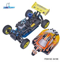 Wholesale rc nitro road car - wholesale Rc Racing Car 1 10 Scale Nitro Gas Power 4wd Two Speed Off Road Buggy 94166 Backwash High Speed Hobby Rc Remote Control Car