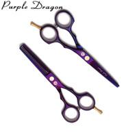friseursalon liefert schere großhandel-5,5 '' 16 cm JP 440C Lila Dragon Violet Schneidescheren Effilierschere Friseurbedarf Salon Haar Schere Haarschnitt Schere Z1104