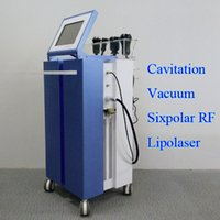 ingrosso macchina multifunzione rf-Nuovo professionale 4 teste cavitazione RF dimagrante macchina liposuzione cavitazione multipolare attrezzature ultrasuoni vuoto tripolare rf