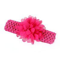 Wholesale blue flowers for headbands online - Cute baby hair accessories girls headband flower baby lace headbands for girls flower hairband girls