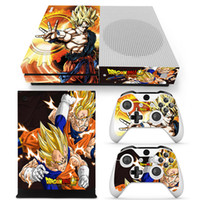 Wholesale xbox one skins - Dragon Ball Protective Decals For Microsoft xbox one S Console and 2 Controllers Cover Skin Stickers