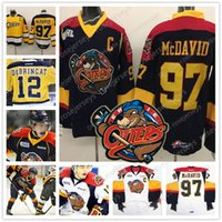 Custom Erie Otters Hockey  97 Connor McDavid 9 Ryan OReilly Stitched Any  Number Name Navy Blue Yellow White OHL Jerseys S-4XL 87fc711c2