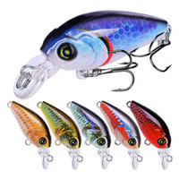 Wholesale 10 color cm g Crank Plastic Hard Baits Lures Fishing Hooks Hook Artificial Bait Pesca Fishing Tackle Accessories