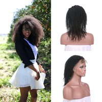 Wholesale virgin human hair wigs sale online - Hot Sale Afro Kinky Curly Lace Front Wigs Natural Black With Baby Hair Braziliann Natural Human Hair No Tangle No Shedding G EASY