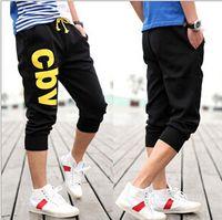Wholesale Men Big Crotches - Summer Men's Pants Big Size Capris Loose Pants Low Crotch Man's Skateboard Fashion Pants