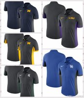 polo da marinha venda por atacado-Estado do Michigan Wolverines Spartans LSU Tigres Kentucky Wildcats Evergreen Polo Antracite Royal Navy