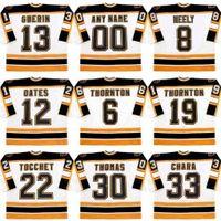 Wholesale vintage cams - 6 JOE THORNTON 8 CAM NEELY 12 ADAM OATES 13 BILL GUERIN 19 JOE THORNTON Boston Bruins 1997 Vintage Throwback Hockey Jersey