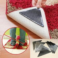Wholesale bathroom mat grippers for sale - Group buy Ruggies Rug Carpet Mat Grippers Non Slip Grip Corners Pad Anti Skid Reusable Washable Silicone Tidy Set OOA5134