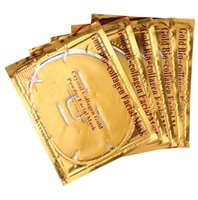 лицевое золото оптовых-5Pcs/Lot Skin Care Facial Mask Gold Collagen Oil Control Wrapped Mask Collagen Powder Face Mask for Moisturizing Firming