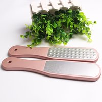 Wholesale dual file for sale - Group buy Professional Dual Sided Foot Rasp File Hard Dead Skin Callus Remover Pedicure Rasp Pedicure Gold Feet Files Foot Care Tools