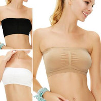 152d2ad452 3 Colors Women Stretch Strapless Bra Bandeau Tube Top Fashion Sexy Womens  Strapless Boob Tube Top Bandeau Bra Opp Package CCA9887 2400pcs