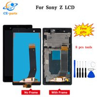 digitalizador xperia z touch al por mayor-Pantalla LCD para SONY Xperia Z LCD pantalla táctil digitalizador con marco para SONY Xperia Z LCD L36H C6603 C6602 Hecho en China