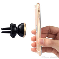 Wholesale Hot Air Holder - HOT Magnetic Phone Car Holder Mobile Phone Mount Air Vent magnetiC Stand Holder for iPhone 7 6 Samsung S8 Huawei Xiaomi Smartphone Stand