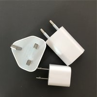 adaptor charger 5v 1a 2018 - 10pcs OEM A+++ Quality A1385 A1400 A1399 5V 1A 5W US EU UK Plug adaptor USB AC Power Charger Wall Adapter For iphone X 8 7 6s plus with box